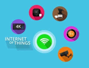 Internet of things vector graphic icons set