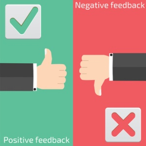 Positive feedback and negative feedback